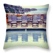 Pool With Views Of The Ocean Throw Pillow