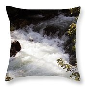 Pooling White Water Throw Pillow