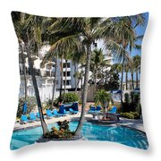 Poolside 02 Throw Pillow