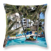 Miami Beach Poolside 03 Throw Pillow