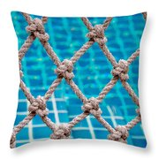 Poolside Robe Fence Throw Pillow
