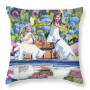 Poolside Tea I Throw Pillow