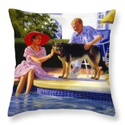 Poolside Thistle Down Throw Pillow
