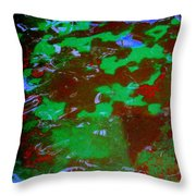 Poolwater Abstract Throw Pillow