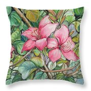 Poor Man's Orchid Throw Pillow
