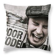 Poor Model Throw Pillow