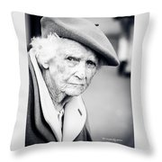Poor Old Lady Throw Pillow