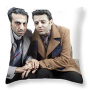 Poor Old Things Throw Pillow