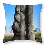 Poor Twisted Tree Throw Pillow