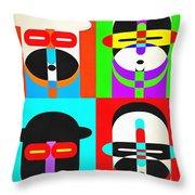 Pop Art People Quattro Throw Pillow
