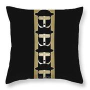 Pop Art People Totem 5 Throw Pillow