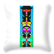 Pop Art People Totem 7 Throw Pillow