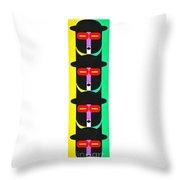 Pop Art People Totem 8 Throw Pillow