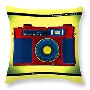 Pop Art Robin Throw Pillow
