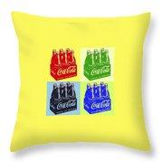 Pop Coke Throw Pillow