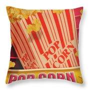 Pop Corn Throw Pillow