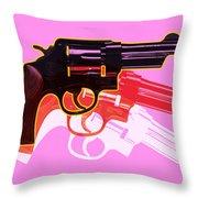 Pop Handgun Throw Pillow