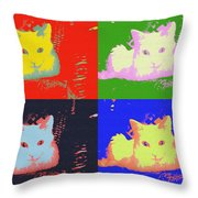 Pop Kitty Throw Pillow
