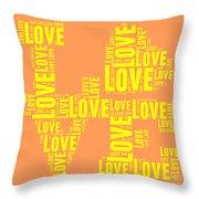 Pop Love 3 Throw Pillow