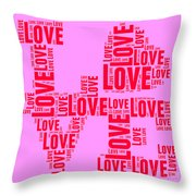 Pop Love 4 Throw Pillow