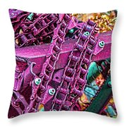 Pop Of Purple Throw Pillow