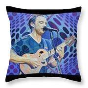 The Dave Matthews Band Op Art Style Throw Pillow