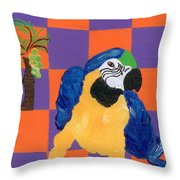 Pop Parrot Throw Pillow