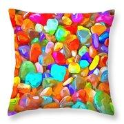 Pop Rocks Abstract Throw Pillow