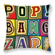 Pop Words Throw Pillow