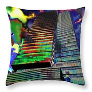 Popart In The Sky Throw Pillow