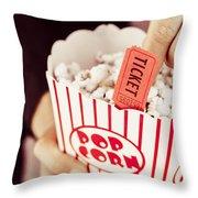 Popcorn Box Office Throw Pillow