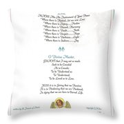Pope Francis St. Francis Simple Prayer Florentine Angel Throw Pillow by Desiderata Gallery
