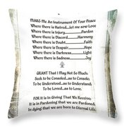 Pope Francis St. Francis Simple Prayer For Peace Throw Pillow