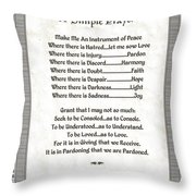 Pope Francis St. Francis Simple Prayer Peace On Parchment Throw Pillow
