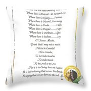 Pope Francis St. Francis Simple Prayer Purity Throw Pillow by Desiderata Gallery