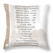 Pope Francis St. Francis Simple Prayer St. Teresa Throw Pillow