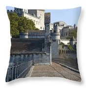 Pope Palace Throw Pillow