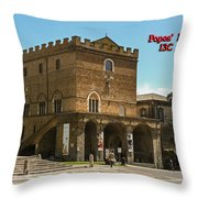 Popes Palace Throw Pillow