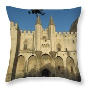 Popes Palace In Avignon Throw Pillow