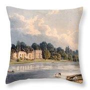 Popes Villa At Twickenham, 1828 Throw Pillow