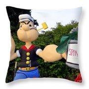 Popeye The Sailor Man Throw Pillow