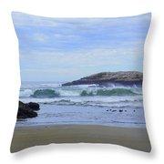 Popham Beach Surf Throw Pillow