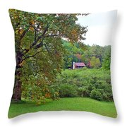 Poplar Tree In The Valley Throw Pillow