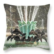 Popp Fountain In City Park New Orleans Throw Pillow