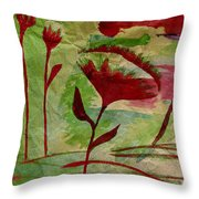 Poppies Abstract 2 Throw Pillow