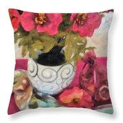 Poppies And Spices Throw Pillow