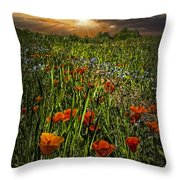 Poppies Art Throw Pillow