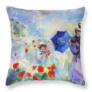 Poppies At Argenteuil Claude Monet Throw Pillow