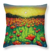 Poppies At Twilight Throw Pillow