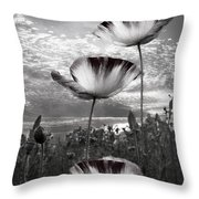 Poppies Throw Pillow by Debra and Dave Vanderlaan